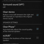 Xperia V sound features