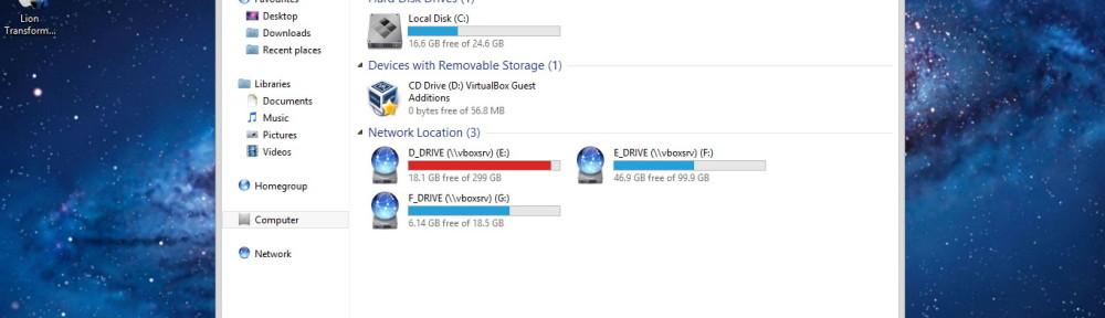 OS X progress on Windows 8