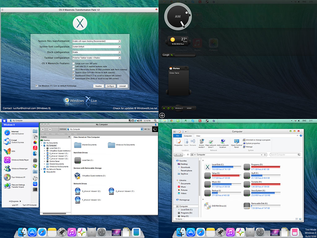 OS X Mavericks Transformation Pack