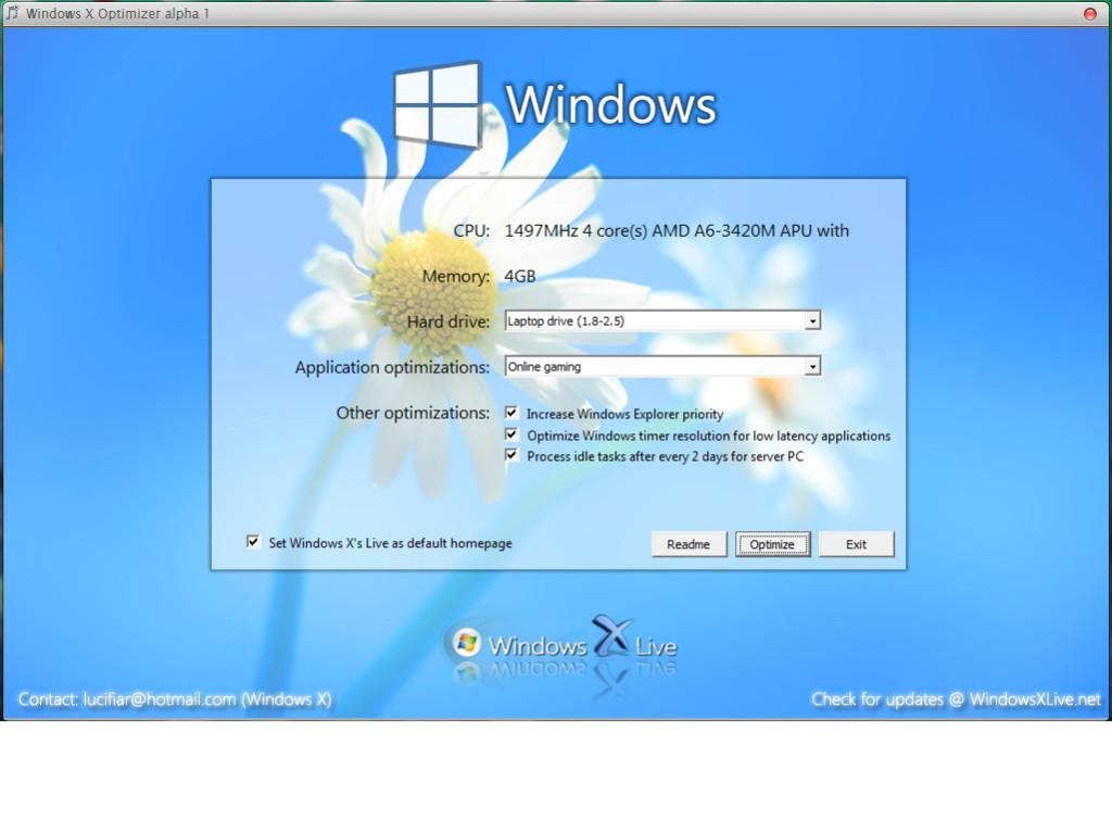Windows X Optimizer