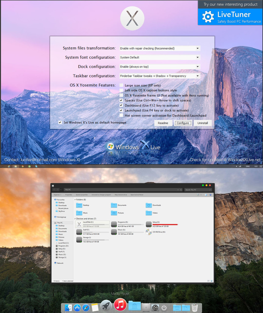 Yosemite Transformation Pack 3.0