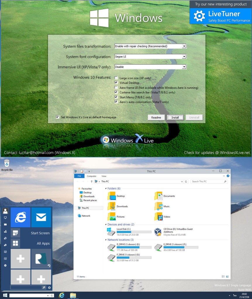 Windows 10 Transformation Pack 3.0