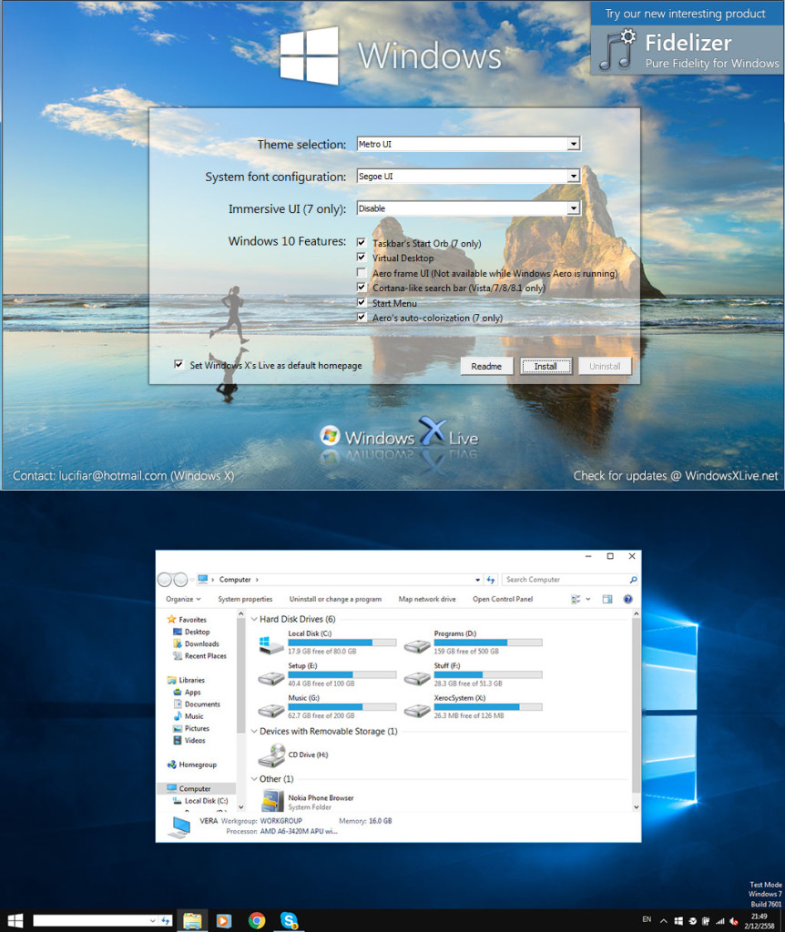 Windows 10 UX Pack screenshot