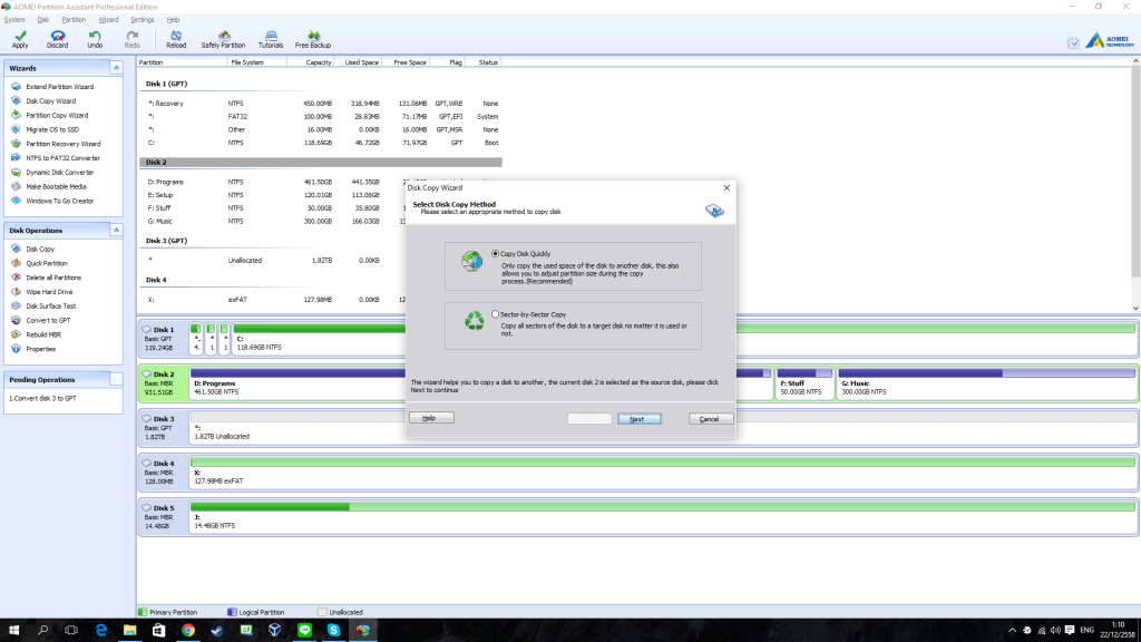 AOMEI Partition Assistant Professional Edition - Review 2